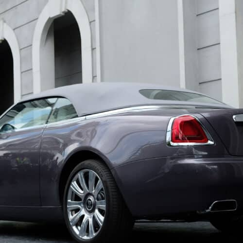 Prime Cars Rental Rolls Royce Dawn on MV Production of Way Titanium