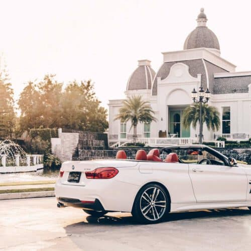 Side Profile of BMW 4 Series Convertible Rental