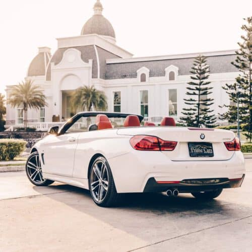 Back of BMW 4 Series Convertible Rental