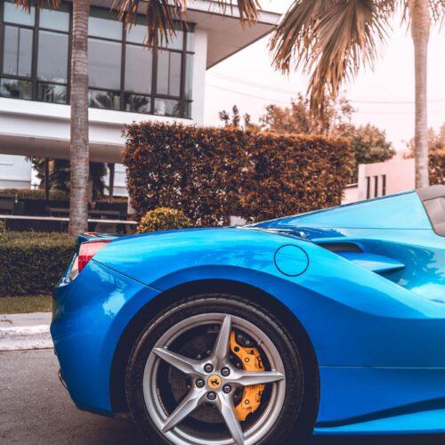 ด้านข้างของ Ferrari 488 Spider